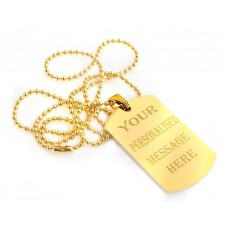 Dog Tag Engraving Gold Plated