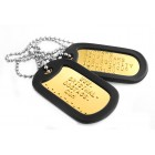 3 Bras Dog tags